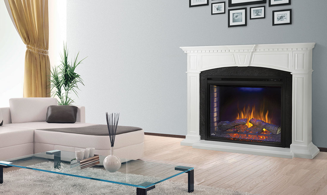 The Taylor Electric Fireplace Mantel Package By Napoleon Nefp33 0214w