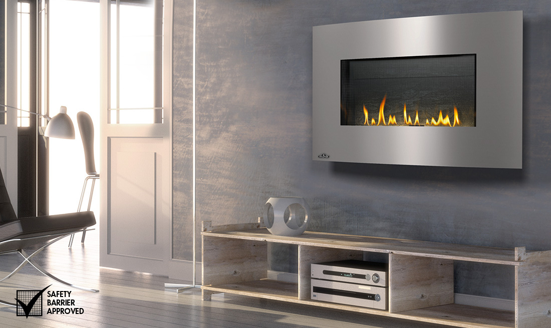 fireplaces gas fire wizrd fireplace wall hung modern contemporary me