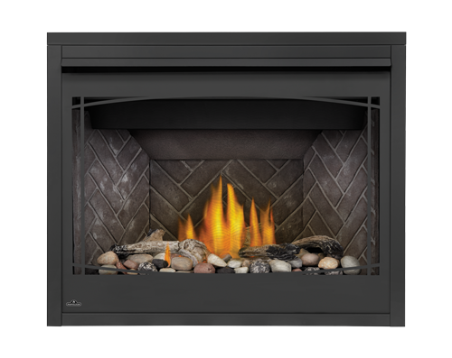 Beach Fire and Shore Fire Media Kits, Westminster Herringbone brick panels and Zen Front