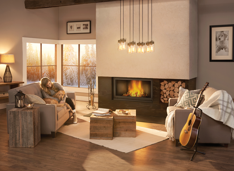 High Country 7000 Rustic Wood Fireplace