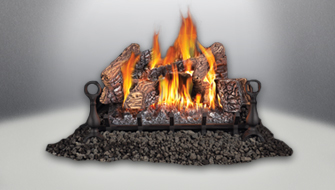 Napoleon's Gas Log Sets create the ambiance your home deserves with our exclusive PHAZER log sets and PHAZERAMIC burner that are so realistic they look like a natural wood burning fire.