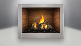 Napoleon Riverside 42 clean face fireplace product shot