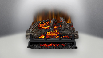 Napoleon Electric Log Sets create the ambiance your home deserves. Our handed painted log sets are so realistic that they look like a natural wood burning fire.
