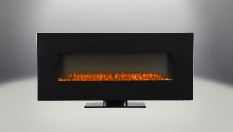 """Jayden 50"""" Electric Wall Mount Fireplace Straight On"""