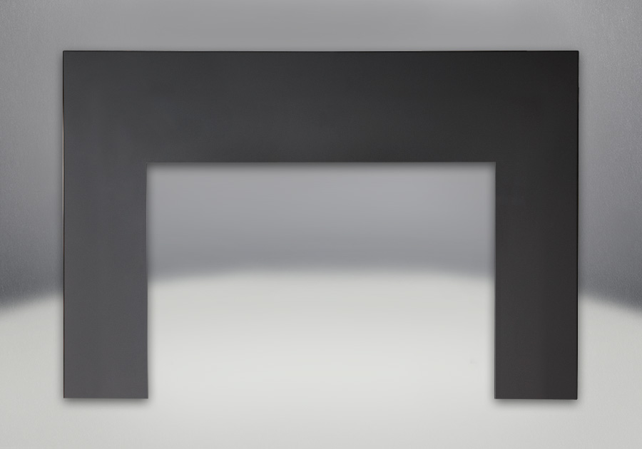 One Piece Surround Painted Black Finish 9″