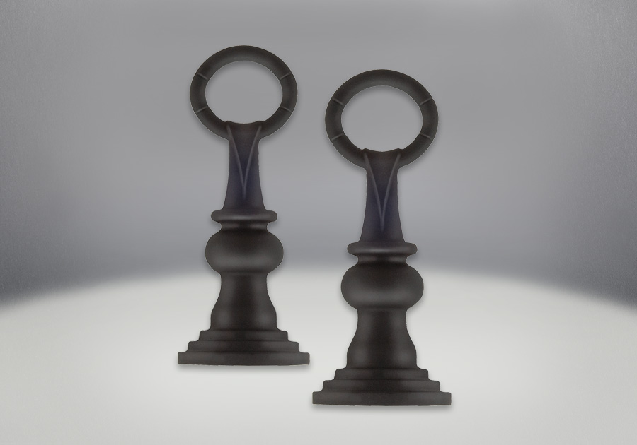 Andirons Painted Black Finish - Traditional