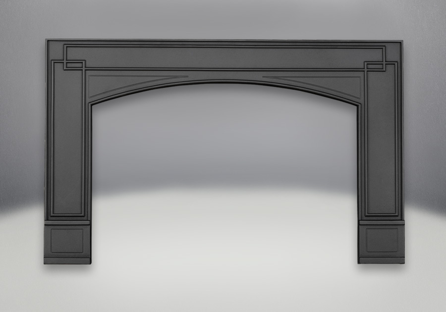 Arched Cast Iron Surround Painted Black Finish