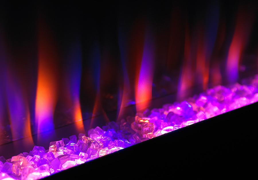 Azure flame purple napoleon fireplaces