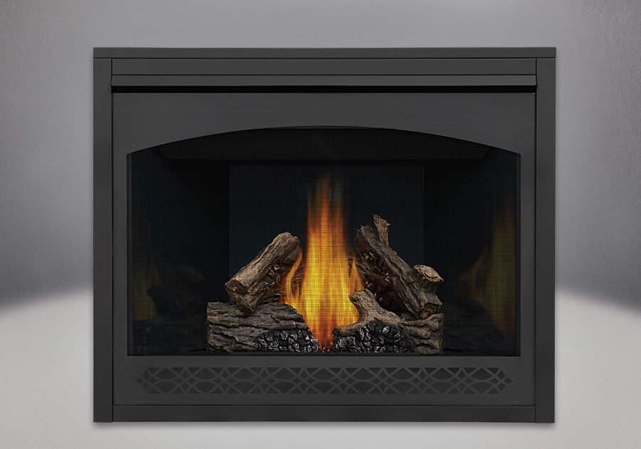 PHAZER<sup>&reg;</sup> Log Set, MIRRO-FLAME<sup>&trade;</sup> Porcelain Reflective Radiant Panels, Heritage Front