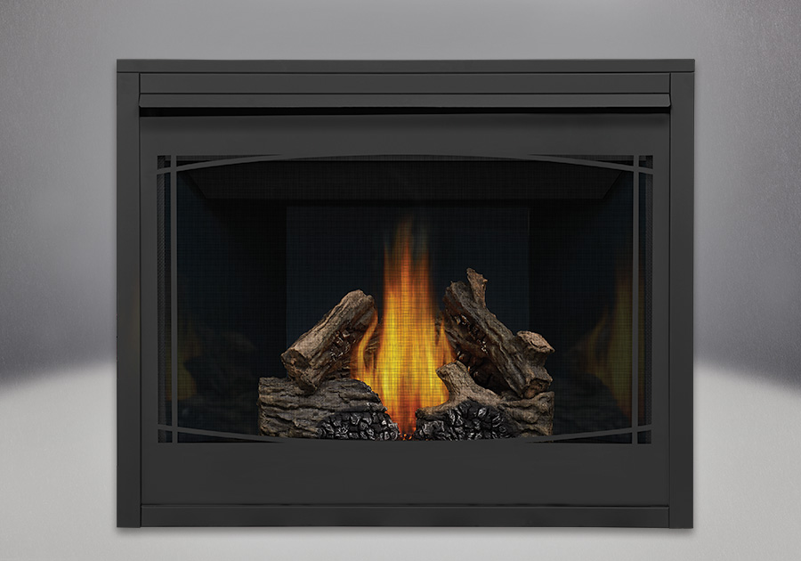 PHAZER<sup>&reg;</sup> Log Set, MIRRO-FLAME<sup>&trade;</sup> Porcelain Reflective Radiant Panels, Zen Front