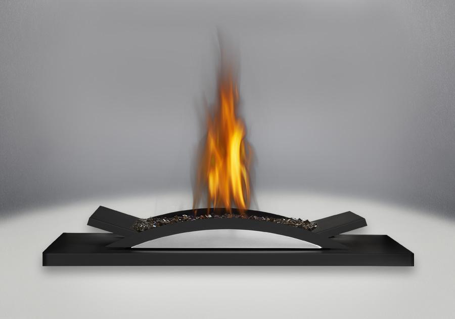 Designer Fire Cradle with Topaz Glass Burner