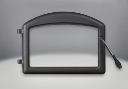 Arched Door Painted Black Finish