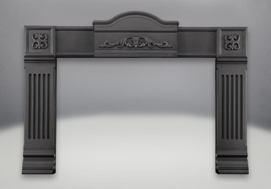 Cast Iron Surround - Painted Black Finish