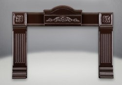 Cast Iron Surround - Porcelain Enamel Majolica Brown Finish