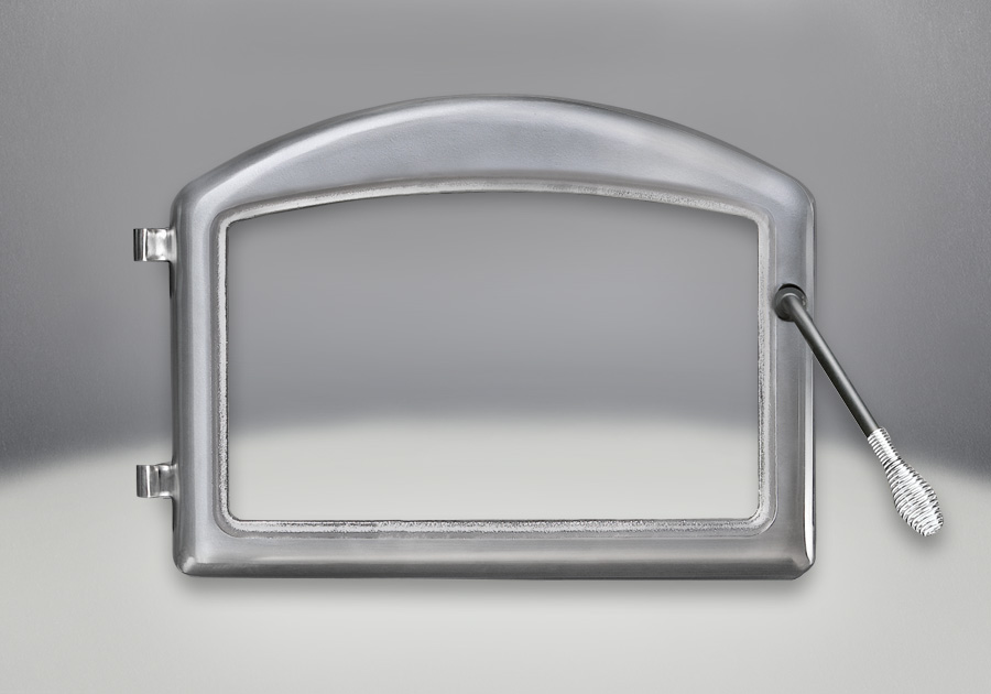 Arched Door Satin Chrome Plated Finish