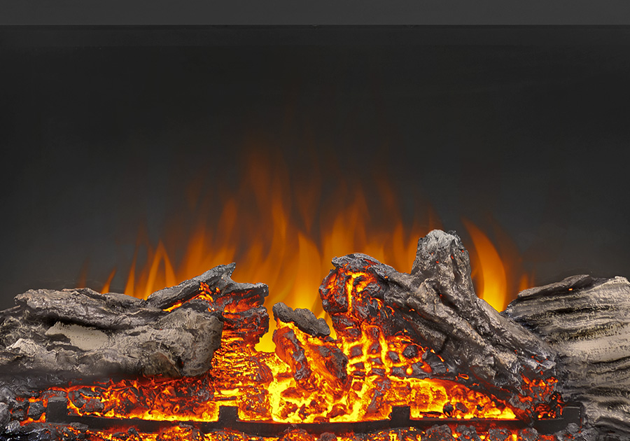 Realistic Logs and Ember Bed