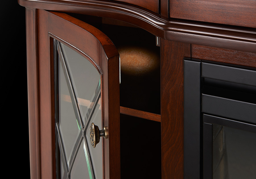 Glass Door with Interior Accent LED Lights