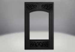 Traditional Facing Kit in Painted Metallic Black Finish with Painted Metallic Black Ornamental Insets