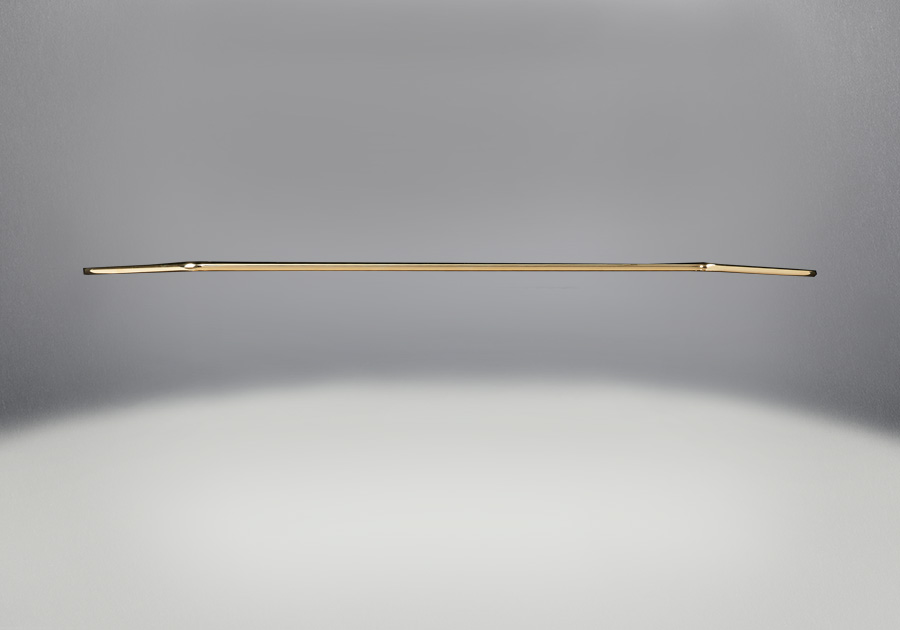 Accent Bar 24 Karat Gold Plated Finish
