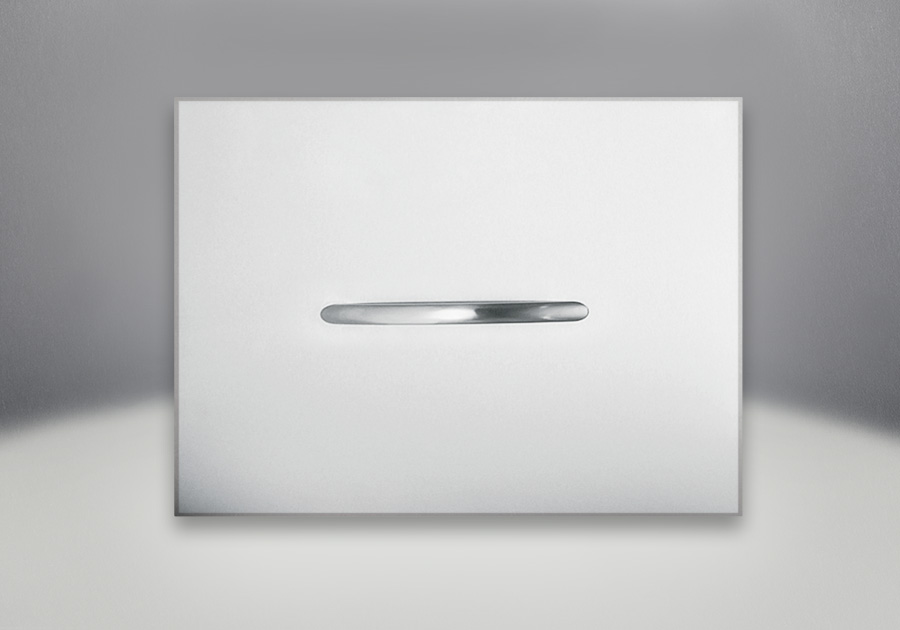 Fireplace Cover Brushed Stainless Steel (Standard with unit)