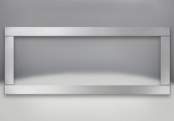 Optional Four-Sided Trim in Brushed Stainless Steel Finish
