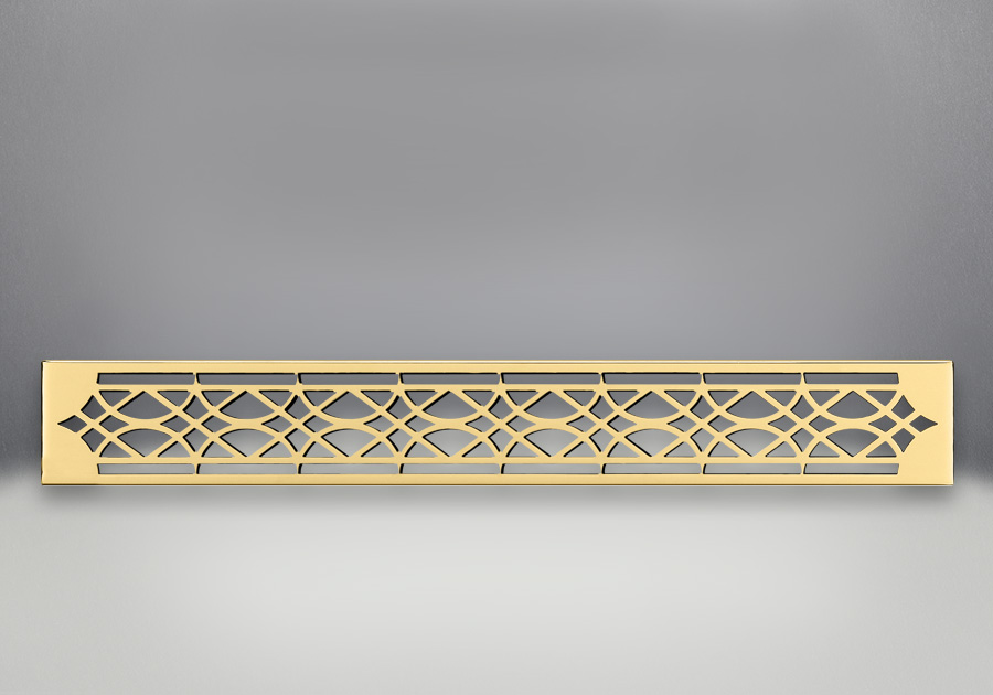 Ornamental Inset 24 Karat Gold Plated Finish
