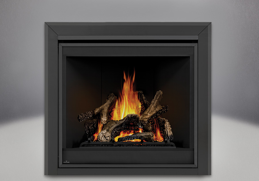 PHAZER<sup>®</sup> Logs, MIRRO-FLAME<sup>™</sup> Porcelain Reflective Radiant Panels, Bevelled Trim