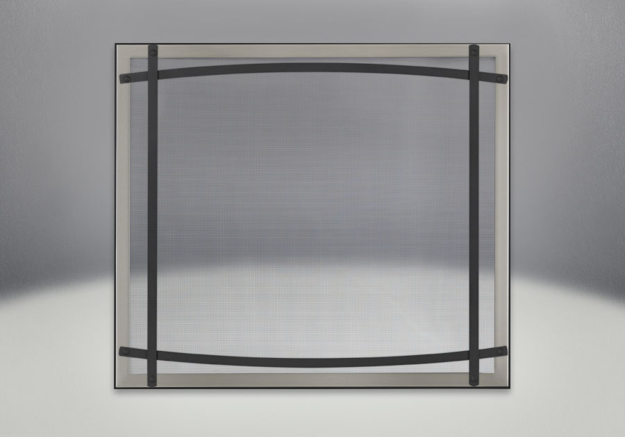 Classic Resolution front shown with overlay in brushed stainless and black curved accent bars, complete with safety barrier
