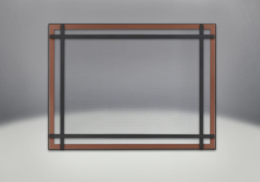 Classic Resolution front shown with overlay in brushed copper and black straight accent bars, complete with safety barrier