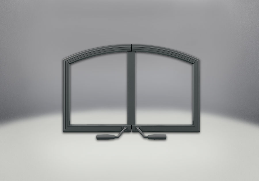 Arched Wrought Iron Double Doors
