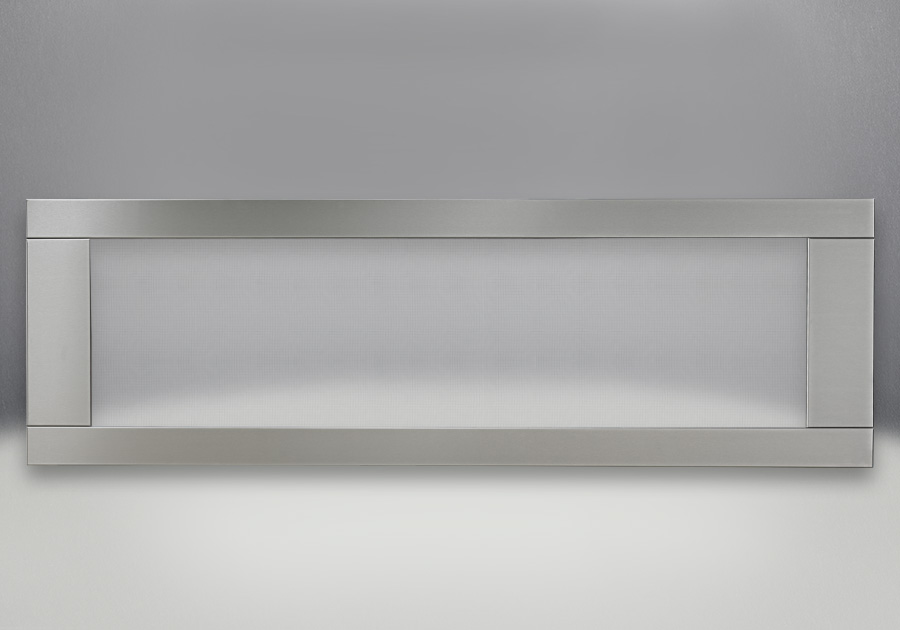 Premium 4-Sided Surround With Safety Barrier – Brushed Stainless Steel Finish, With Safety Barrier