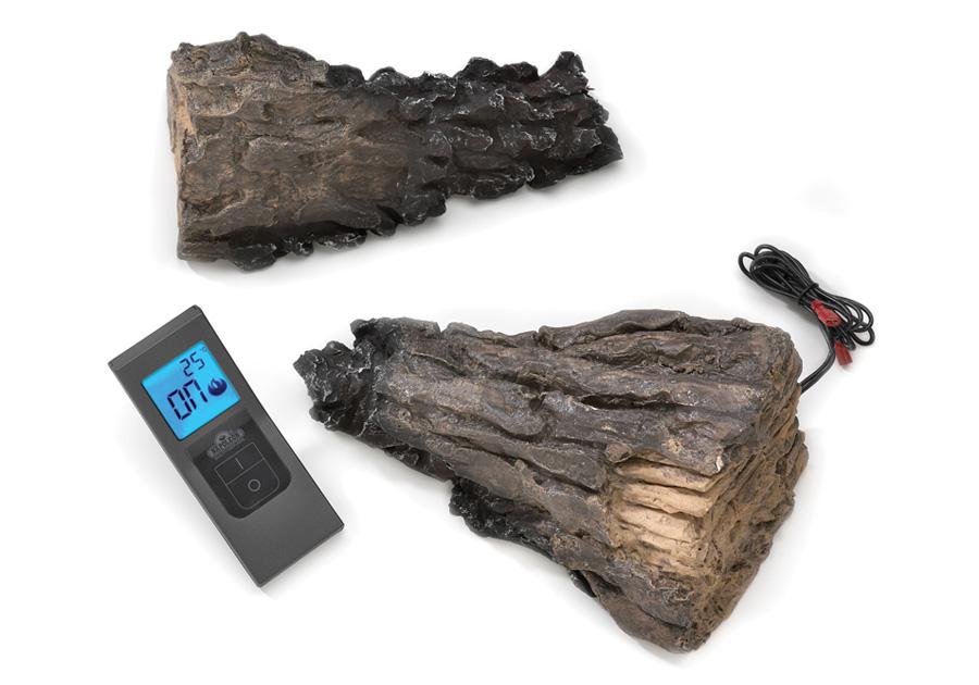 Remote Control Kit F45 Receiver Batteries Cradle And Two Ceramic Fibre Logs