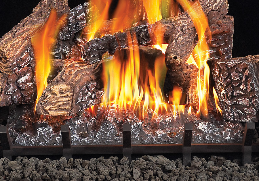 gas inserts outdoor logs smell fireplace propane
