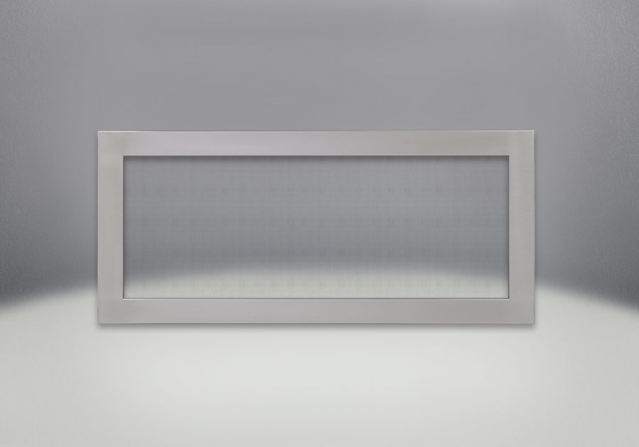 Flush Frame with Safety Screen, Stainless Steel