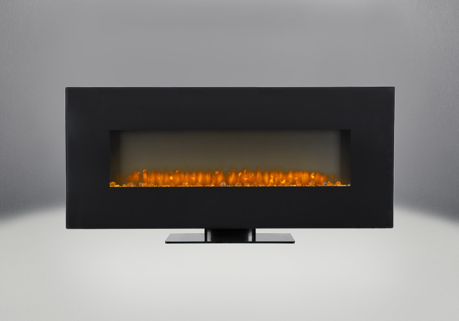 """Jayden 50"""" Electric Wall Mount Fireplace With Glass"""