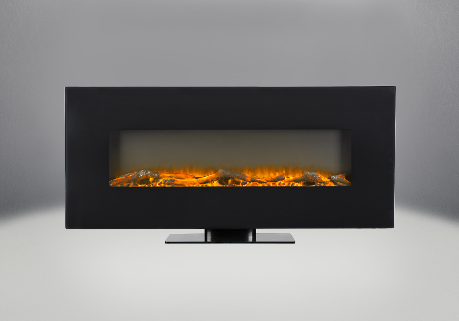 "Jayden 50"" Electric Wall Mount Fireplace With Logs"
