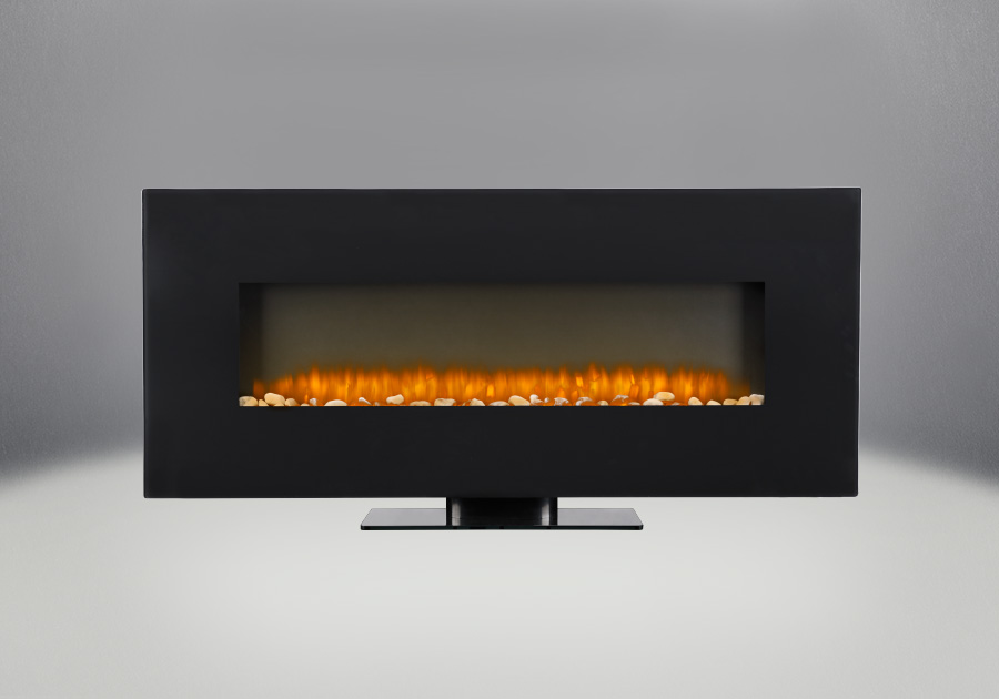 "Jayden 50"" Electric Wall Mount Fireplace With Rocks"