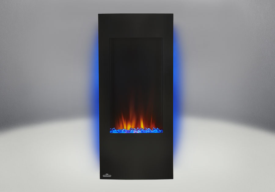 The Napoleon Azure Vertical 38 electric fireplace is a stunning statement piece for any small or large area without the need for venting. Find Out More.