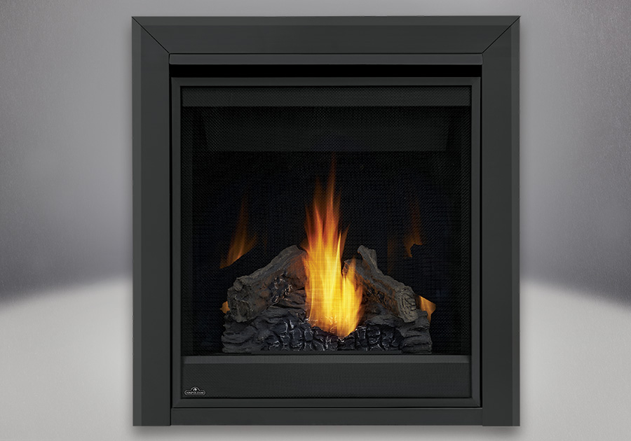 PHAZER<sup>®</sup> Log Set, MIRRO-FLAME<sup>™</sup> Porcelain Reflective Radiant Panels, Bevelled Trim