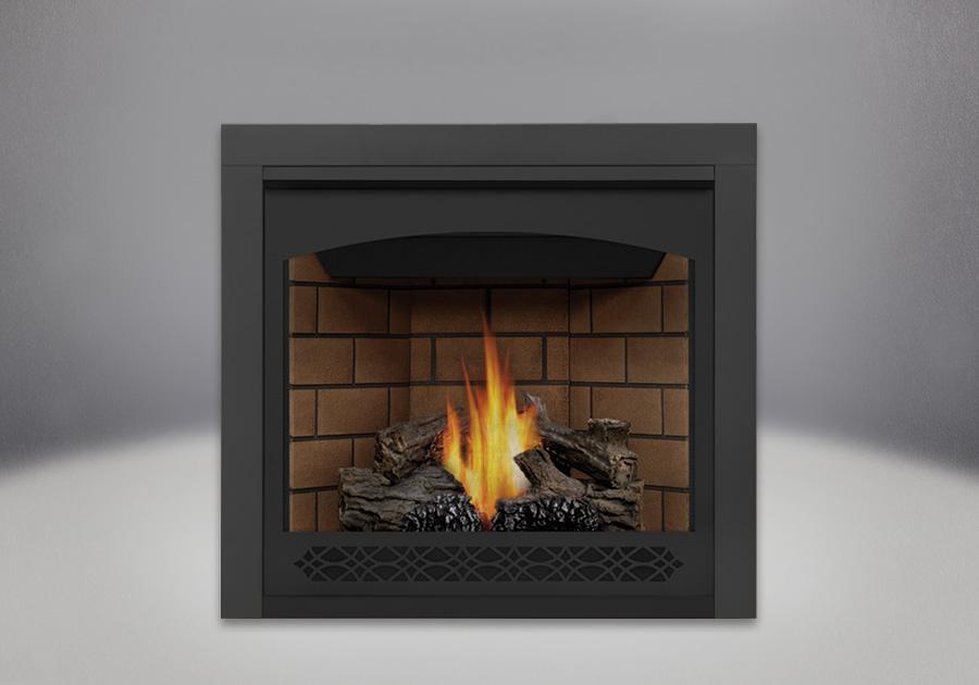 PHAZER<sup>&reg;</sup> Log Set, Decorative Front - Heritage, Sandstone Brick Panels, Trim Kit