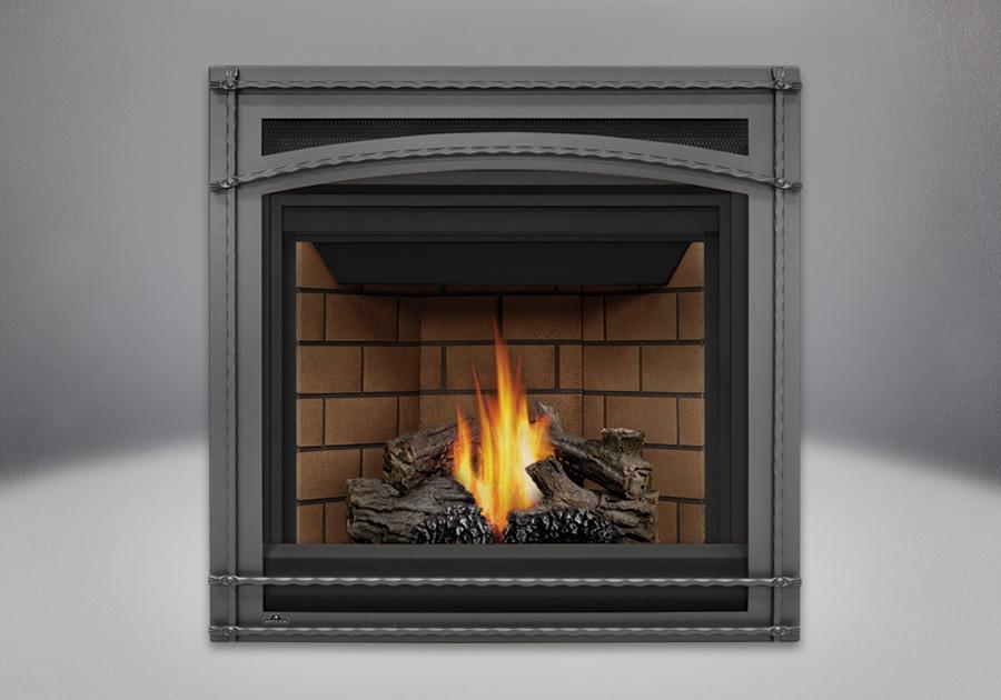 PHAZER<sup>&reg;</sup> Log Set, Decorative Front -Wrought Iron, Sandstone Brick Panels