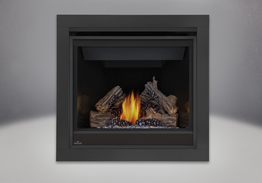 PHAZER<sup>®</sup> Log Set, 2 inch Trim Kit - 3 Piece, MIRRO-FLAME<sup>™</sup> Porcelain Reflective Radiant Panels