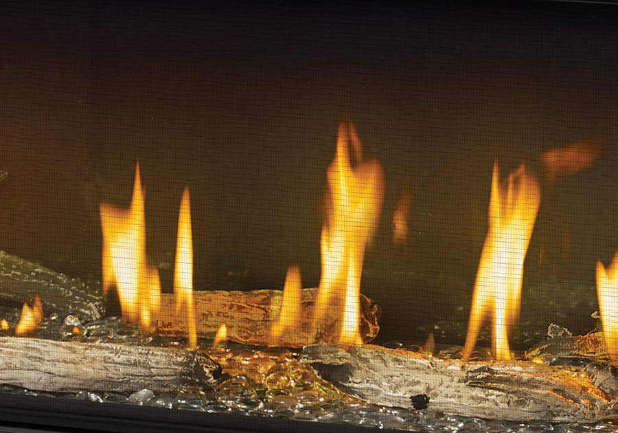 MIRRO-FLAME<sup>™</sup> Porcelain Reflective Radiant Panels, Clear Glass Beads, Beach Fire Kit