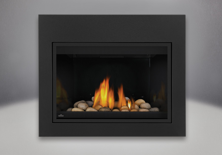 MIRRO-FLAME<sup>™</sup> Porcelain Reflective Radiant Panels, Multi-Colored Finish Mineral Rock Media Kit, Standard Safety Screen