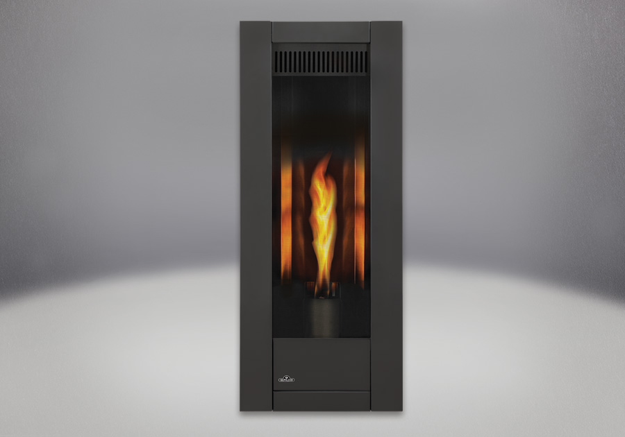 MIRRO-FLAME<sup>™</sup> Porcelain Reflective Radiant Panels, Painted Metallic Black Front
