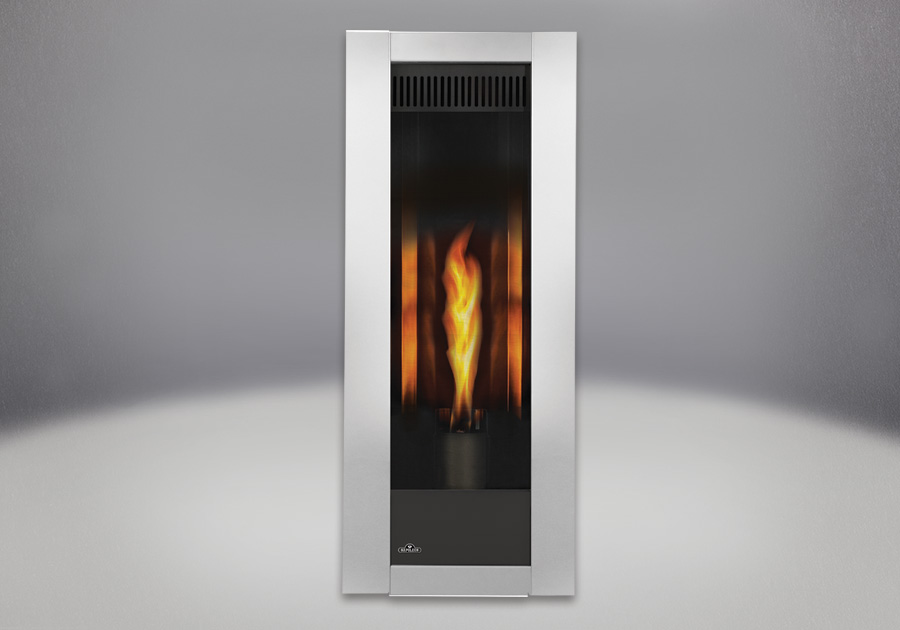 MIRRO-FLAME<sup>™</sup> Porcelain Reflective Radiant Panels, Brushed Stainless Steel Front