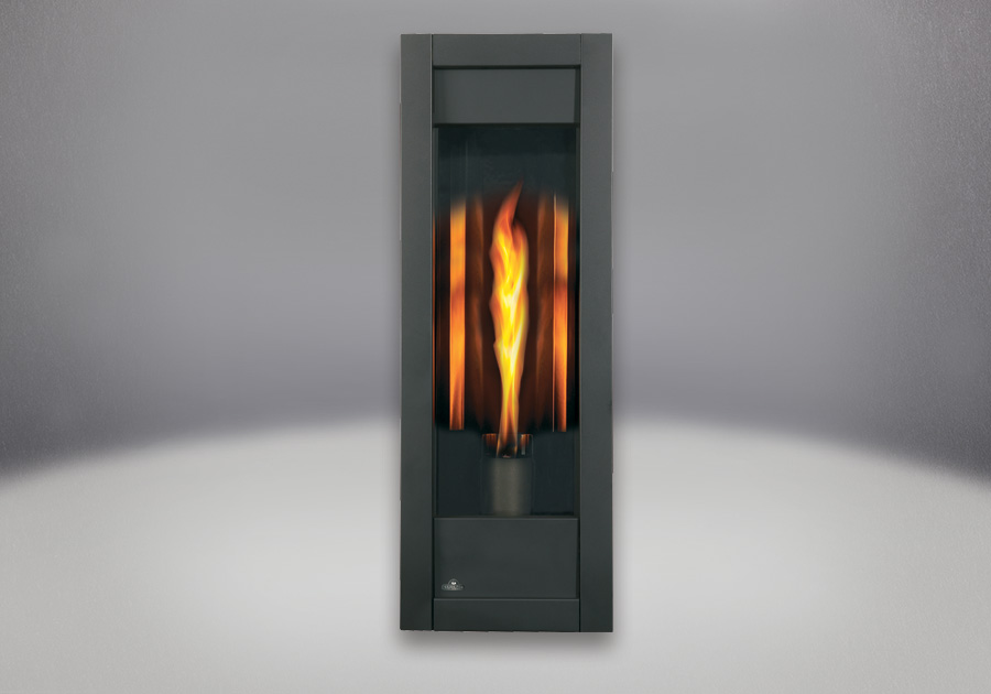 MIRRO-FLAME<sup>&trade;</sup> Porcelain Reflective Radiant Panels, Painted Metallic Black Front