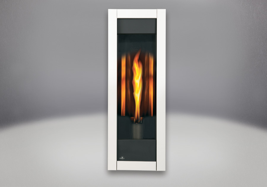 MIRRO-FLAME<sup>&trade;</sup> Porcelain Reflective Radiant Panels, White Front