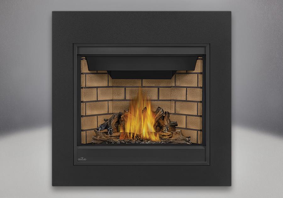 PHAZER<sup>®</sup> Log Set, Sandstone Decorative Brick Panels, Clean Face Front