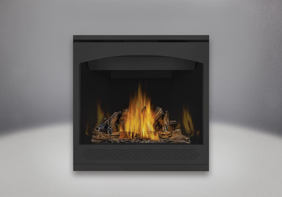 PHAZER<sup>®</sup> Log Set, MIRRO-FLAME<sup>™</sup> Porcelain Reflective Radiant Panels, Heritage Front